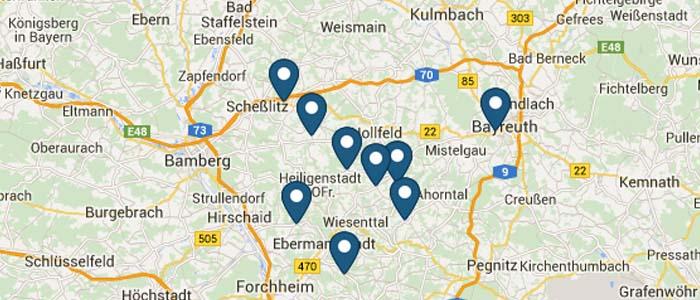 Standorte der Brauereien
